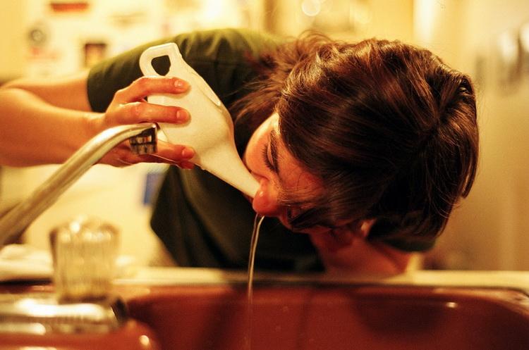 Промывание носовых ходов